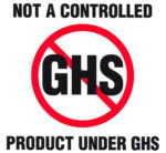 Not regulated under GHS