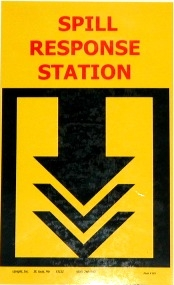 Wall Mount Spill Station Sign